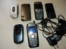 Lot Of 6 Used Cell Phones, Untested For Parts Or Repair, Various Brands Samsung