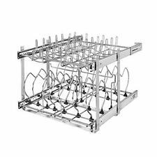 "Rev-A-Shelf 5CW2-2122-CR 21"" 2-Tier Wire Cookware Organizer (Open Box) (2 Pack)"