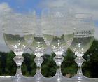 Baccarat - Lot de 4 verres à eau en cristal gravé. XIXe s. Haut. 15,4 cm