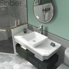 "Sinber 16"" x 16� Square Ceramic Bathroom Vanity Vessel Sink Above Counter Basin"