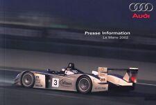 Audi Le Mans r8 sport de course sport automobile prospectus brochure 2002/7