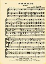 Vtg AUBURN UNIVERSITY college song sheet - 'FIGHT EM TIGERS' - 1950s music