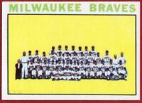 1964 Topps #132 Milwaukee Braves EX-EXMINT+ Hank Aaron Warren Spahn FREE S/H