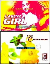 2x LA SENZA DANCING SAQ QUEBEC WINE COCKTAIL SOCIETY COLLECTIBLE GIFT CARD LOT