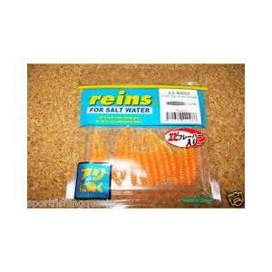 "Worms Soft Appâts REINS Aji Ringer 1.5 "" 4cm Coul R413 Chika Orange 15PZ"