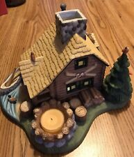 Partylite Lodge Log Cabin Tealight Holder In Excellent Condition