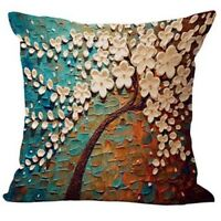 EG_ HK- Linen Pillow Case Waist Back Throw Cushion Cover Home Sofa Decor Conveni