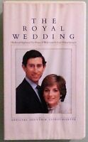 THE ROYAL WEDDING the prince of wales and the lady diana spencer  VHS VIDEOTAPE
