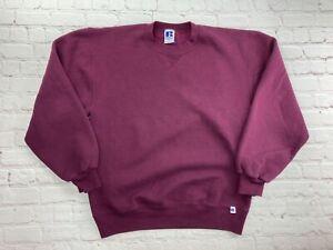 Vintage 1990s Russell Athletic Crewneck Sweatshirt Med Blank Grunge Skate USA