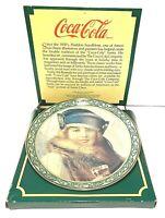"""Vintage Art-Deco Coca-Cola """"The Skater"""" Collectible Plate Christmas Circa 1922"""