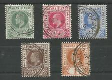 CAYMAN ISLANDS SG3-7  THE 1903 EVII SET of 5 VERY FINE USED CAT £225