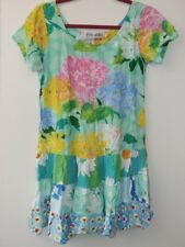 Jams World Hattie Dress Women SM Hydrangea Daisy Loves Me Tiered Rayon Hawaiian