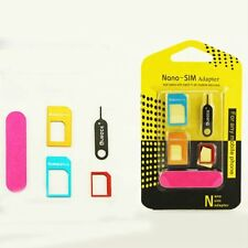LifeBox 5-in-1 Nano SIM Card to Micro/Standard SIM Card Adapter Converter Kits