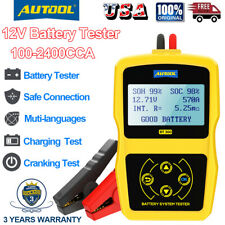 12V Automotive Car Battery Tester Charging Cranking Test Analyzer Scanner Tool