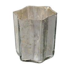 Glas Teelicht STERN ca 8 cm. Shabby chic Teelichtglas verspiegelt. In SILBER -49