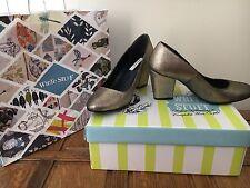 White Stuff Shoes Metallic Silver Size 5 Wedding Summer Glitter RRP £69.99 BNIB