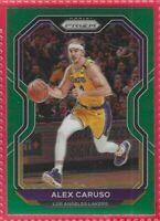 2020-21 Panini Prizm Alex Caruso Green Prizm Card #10 Los Angeles Lakers