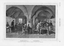 1875 ANTIQUE PRINT-FINE ART Auerbach Cave Leipsic Faust légende SCENE (G126)