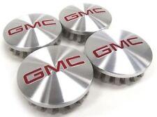"GMC Brushed Aluminum wheel Center Caps 22837060 83mm 3.25"" Sierra Yukon Denali"