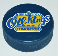 EDMONTON OIL KINGS Official WCL Logo HOCKEY PUCK Blue Colored Western League