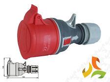 Red 400V 32A 5 Pin Coupler Trailing Socket 3P+N+E 3 Phase commando socket