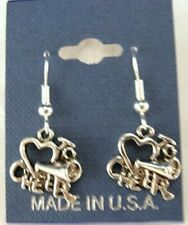 Love to Cheer Cheerleader Earrings French Hooks - Free shipping