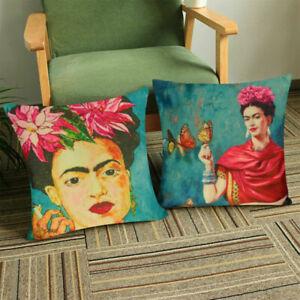 4pc Frida Kahlo Throw Pillow Case Cushion Cover Home Decor Vintage Self Portrait