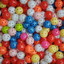 20pcs Hollow Plastic Practice Golf Balls Golf  Balls Air Flow Balls Fas FH