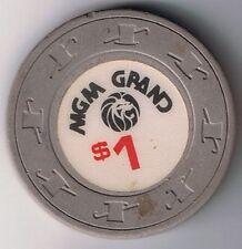 MGM Grand $1.00 H&C Mold Casino Chip Las Vegas Nevada
