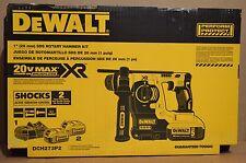 "NEW DEWALT DCH273P2 20V Max XR Brushless 1"" L-Shape SDS Plus Rotary Hammer Kit"