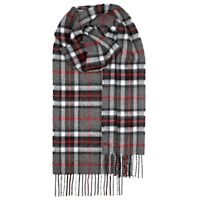 100% Lambswool tartan Scarf by Lochcarron | Thomson Grey | Made in Scotland