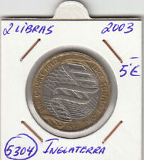 F5304 MONEDA INGLATERRA 2 LIBRAS  2003