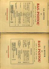 REVUE DU BAS-POITOU. 1961 LIVRAISONS 3 ET 4. VENDEE.