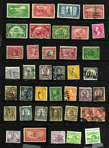 Mint & Used Early 20th Century Collection Regular Commemoratives etc US A9