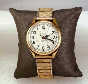 1973 BULOVA  ACCUTRON 214 RAILROAD APPROVED 13 JEWELS Men's Wrist Watch NOT RUNS