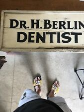 Early DR. H BERLIN LEWISTOWN PA Doctor Dentist Advertising Trade Sign Shingle