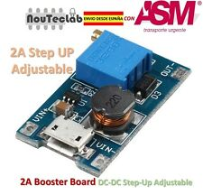 2A Booster Board DC-DC Step-up 2/24V to 5/9/12/28V Micro USB Replace XL6009