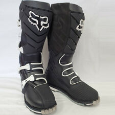Fox Racing F3R Offroad Motocross MX Dirt Boots Black w/ White Buckles Size 9 US