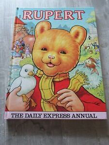 Vintage Hardback Annual Rupert  The Daily Express Annual Published in 1981