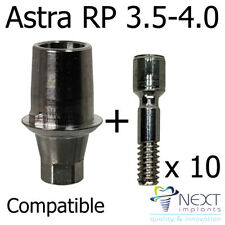 lot x 10 T base Implant Abutment  compatible screw cad cam Astra Tech RP 3.5-4.0