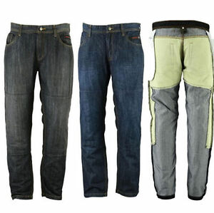 Mens motorbike Motorcycle Denim Trousers Jeans 2 Lengths with Protective Lining