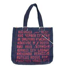 927478a11 Gap Blue Denim Red Letter Print Tote Bag Shoulder Hand Shopping Satchel Sack
