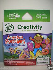 Leap Frog Explorer ADVENTURE SKETCHERS GAME Leap Pad Leapster GS Learning NEW