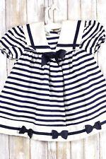 Bonnie Jean Toddler Blue White Dress Size 3T