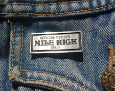 Official Member of the Mile High Club Pewter Pin Badge