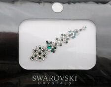 Bindi bijoux de peau mariage front strass cristal Swarovski vert INHC  3607