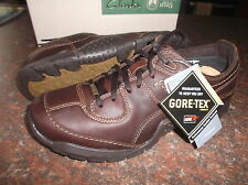 New Clarks Men ** ROCK WALK GTX ** DARK BROWN LEATHER **  UK 7.5 / true 7