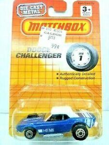 Matchbox 1993 Dodge Challenger Hemi Diecast Car New In Package Nice!