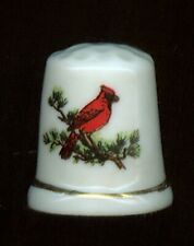 TWO LARGE DISPLAY SONGBIRD BONE CHINA THIMBLES 2M899/904)