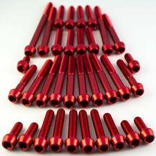 Aprilia RSV1000 Mille 98-01 Aluminium Socket Cap Engine Kit - Red